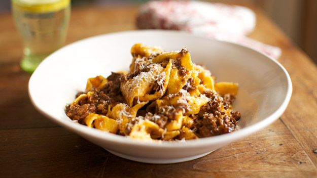 Pappardelle with ragu