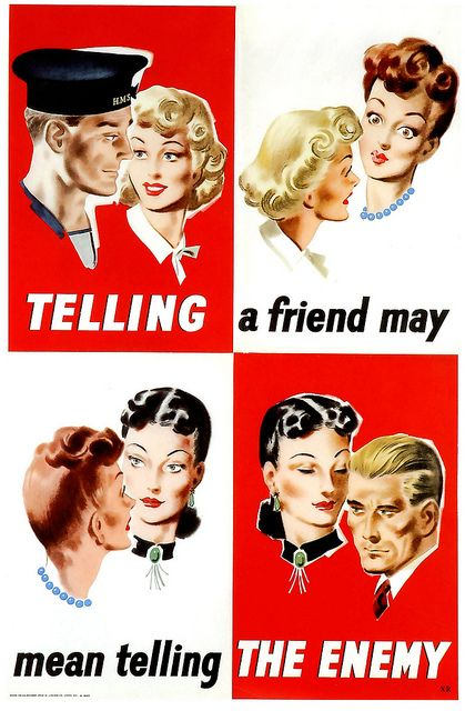 Be careful what you said! #vintage #1940s #WW2 #propaganda