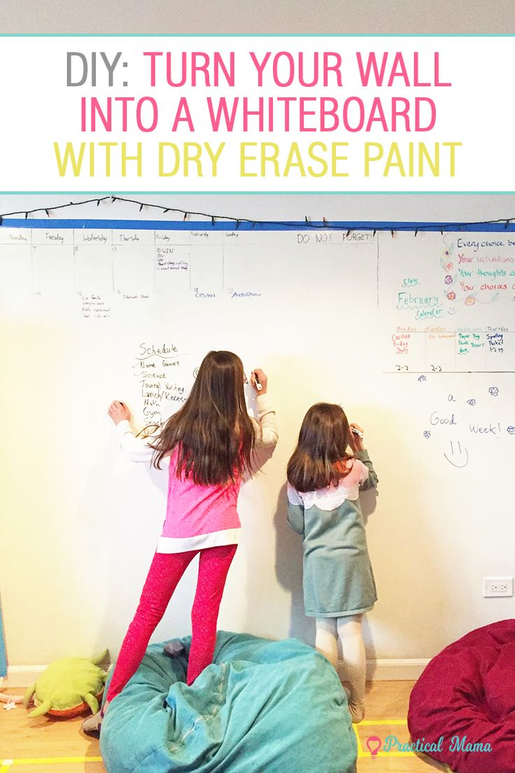 How to turn your wall into a dry erase white board with dry erase paint with directions and tips.