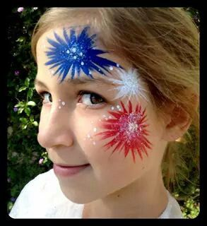 4th of July Face Art  - WOW
