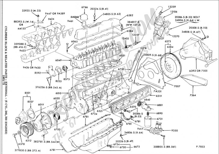 need a good 4 9l 300 engine drawing