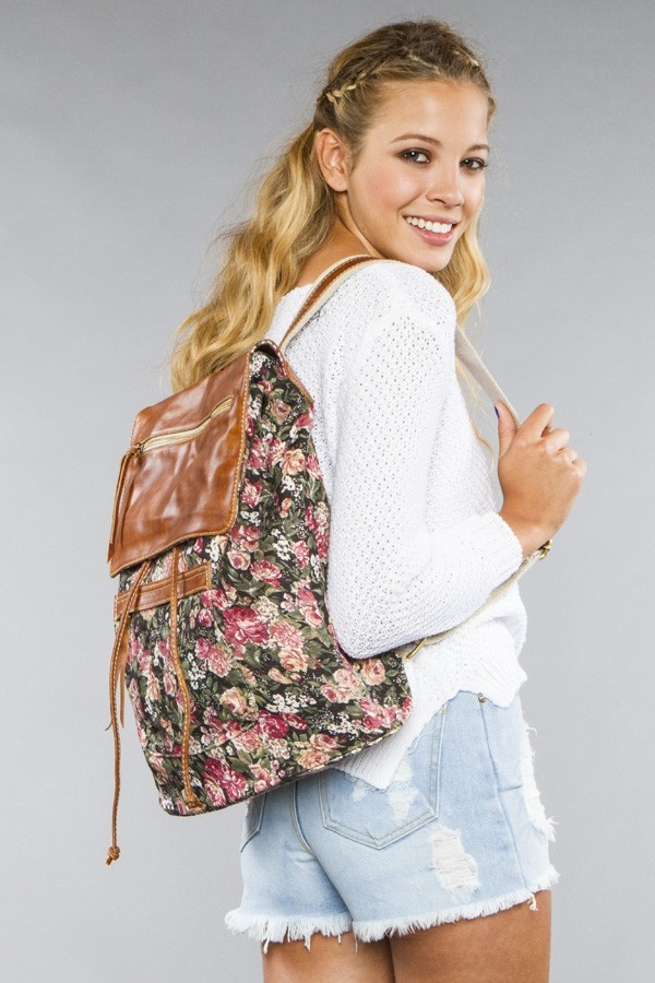leather and floral backpackFloral Leather, Bags Leather, Bags Backpacks Wallets, Flap Backpacks, Floral Backpacks, Floral Bags, Leather Flap, Accessories Bags, Dreams Backpacks