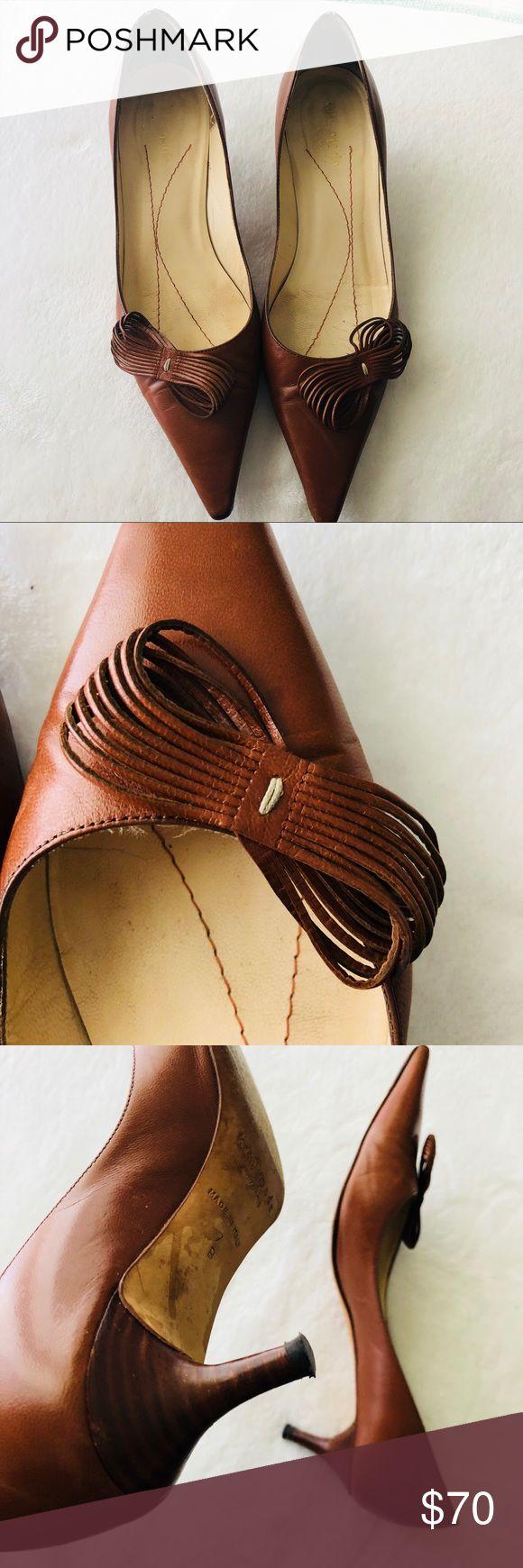 Kate Spade Brown Bow Kitty Heel Pumps Kate Spade Brown Bow Kitty Heels Pumps kate spade Shoes Heels