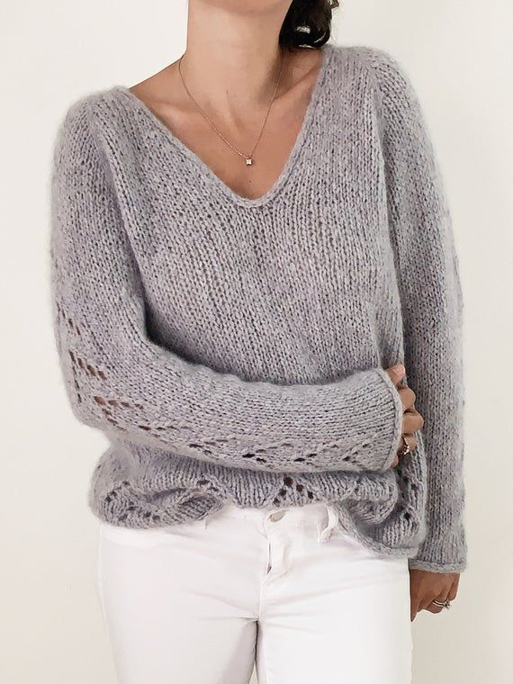 Knitting Pattern Top Down Sweater Pullover The Evermore Etsy In 2020 Sweater Pattern Sweaters Knitting Women