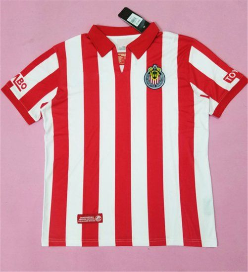 chivas 2008 season home retro red white liga mx shirt jersey