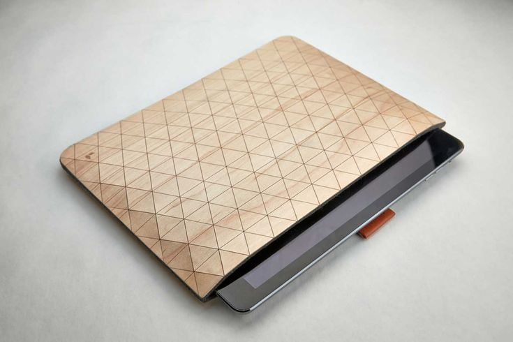 Geometric Wooden iPad Sleeves by Grovemade