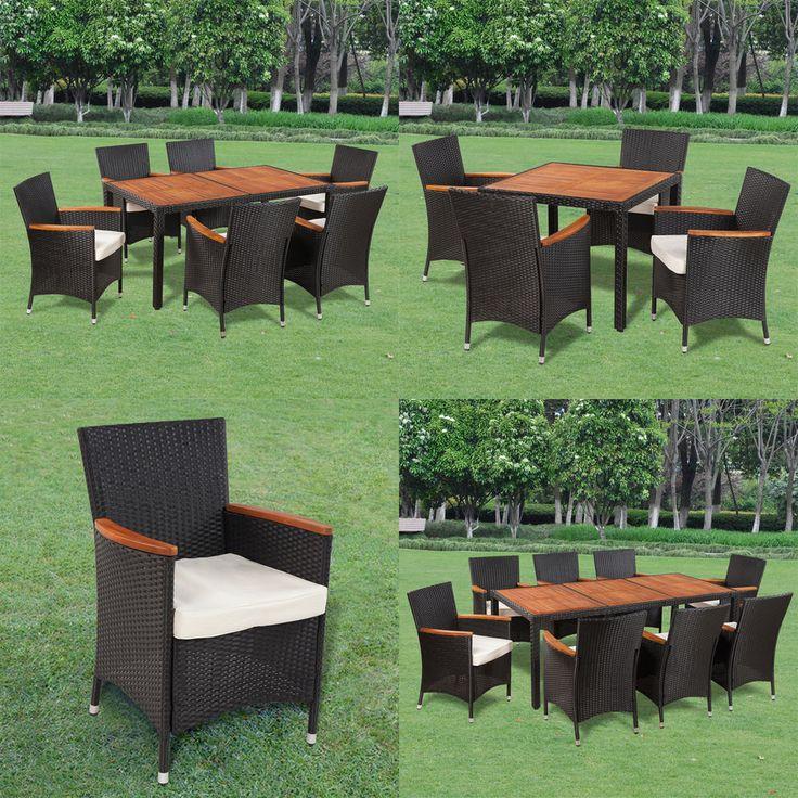Poly Rattan Gartenmöbel Gartengarnitur Holz Sitzgruppe Essgruppe Tisch  Stühle ähnliche tolle Projekte und Ideen wie im Bild vorgestellt findest du auch in unserem Magazin . Wir freuen uns auf deinen Besuch. Liebe Grü