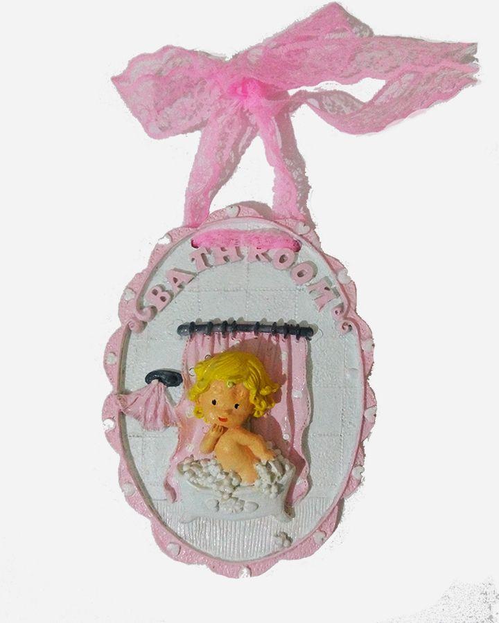Bebek odası dekoratif aksesuar ve objelerden özel tasarım bath room temalı kız figürü.  Sipariş için sitemizi ziyaret edebilirsiniz.  http://mucizeevi.com/urun/bath-room-bebek-odasi-dekoratif-obje/