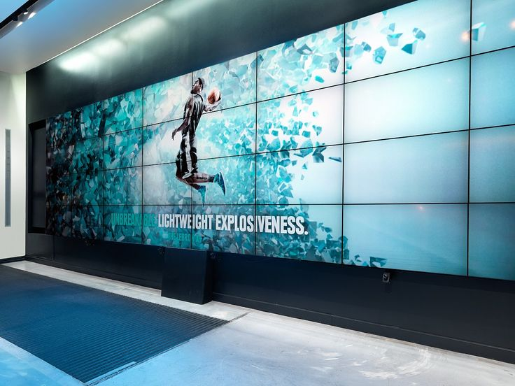 find this pin and more on brand experience design - Video Wall Design