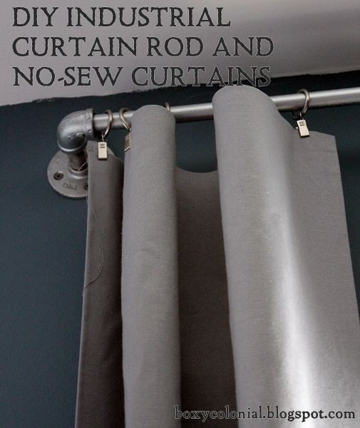 Best 25 Industrial Curtain Rod Ideas On Pinterest Pipe Curtain Rods Curtains For Boys Room