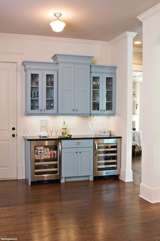 Beverage Center Ideas Home Bar Craftsman With Wine Cooler