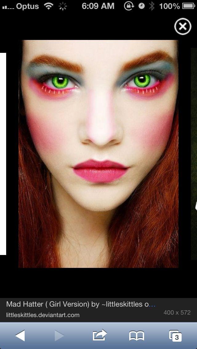 Mad hatter makeup!                                                                                                                                                                                 More