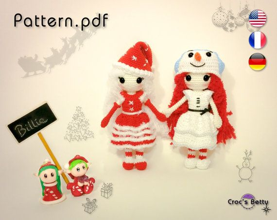 Pattern  Billie celebrates Christmas by CrocsBetty on Etsy