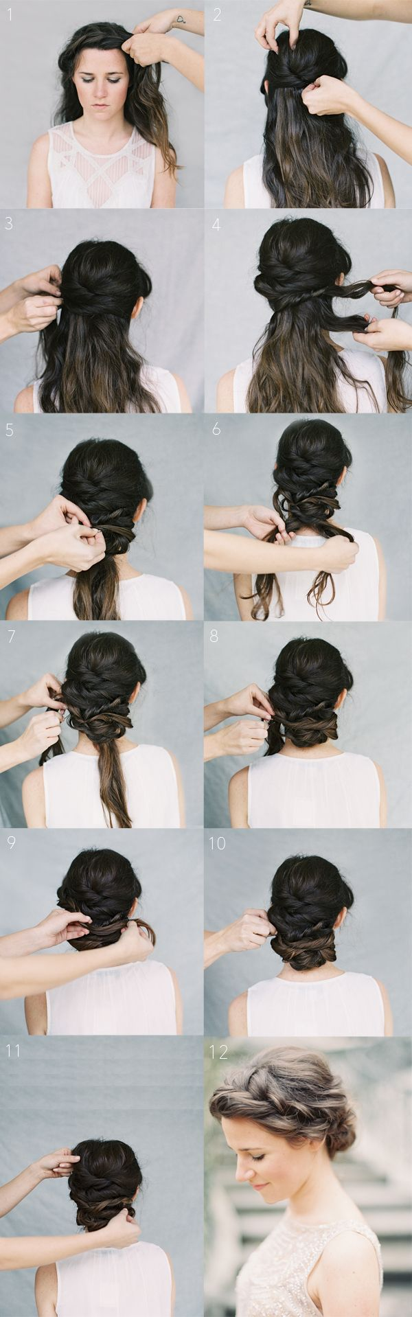 Crown Braid Chignon Tutorial