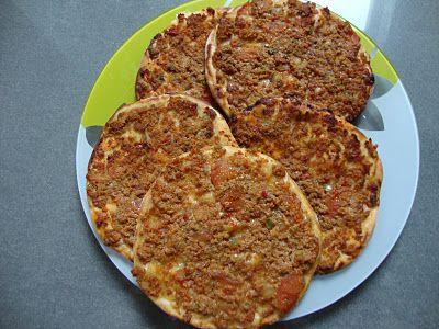 La cuisine de mon pays ... la Turquie: LAHMACUN petite pizza turc