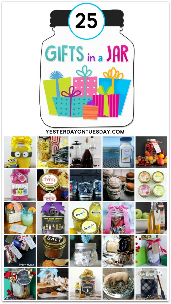 25 Gifts In A Jar Tons Of Great Ideas For Women Men Kids Everyone On Your List Homemade Gift Pinterest And