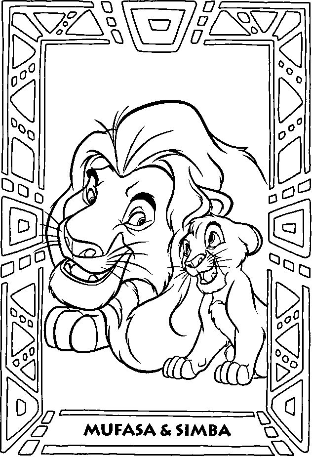 41 Best Coloring Pages The Lion King Images On Pinterest