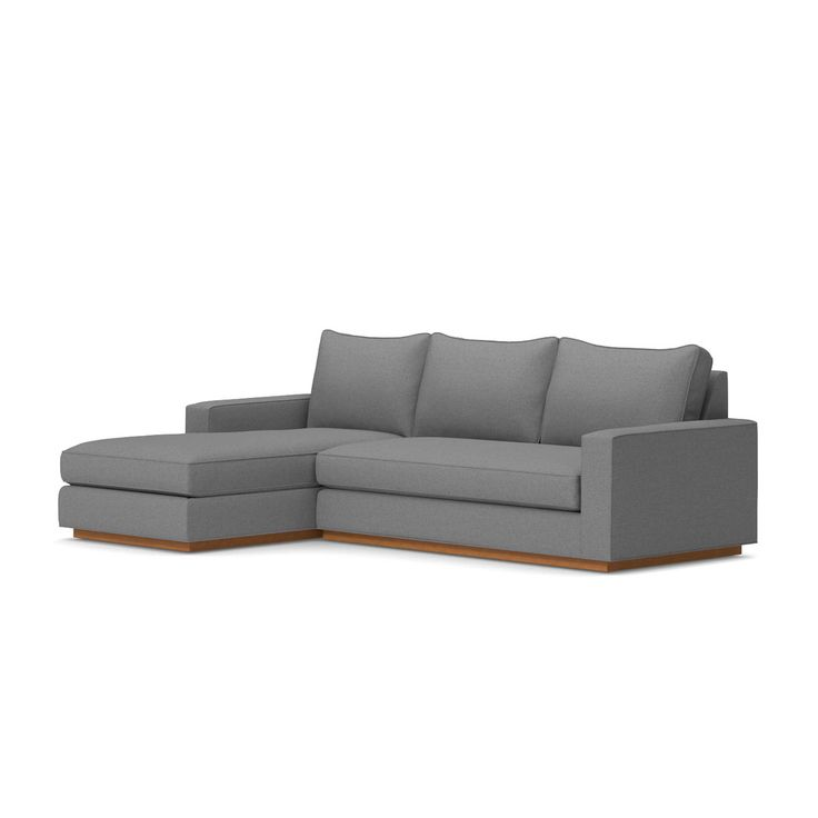 Kyle Schuneman for Apt2B Harper 2-Piece Left Arm Facing Sectional with Pecan Base in Biloxi Blue