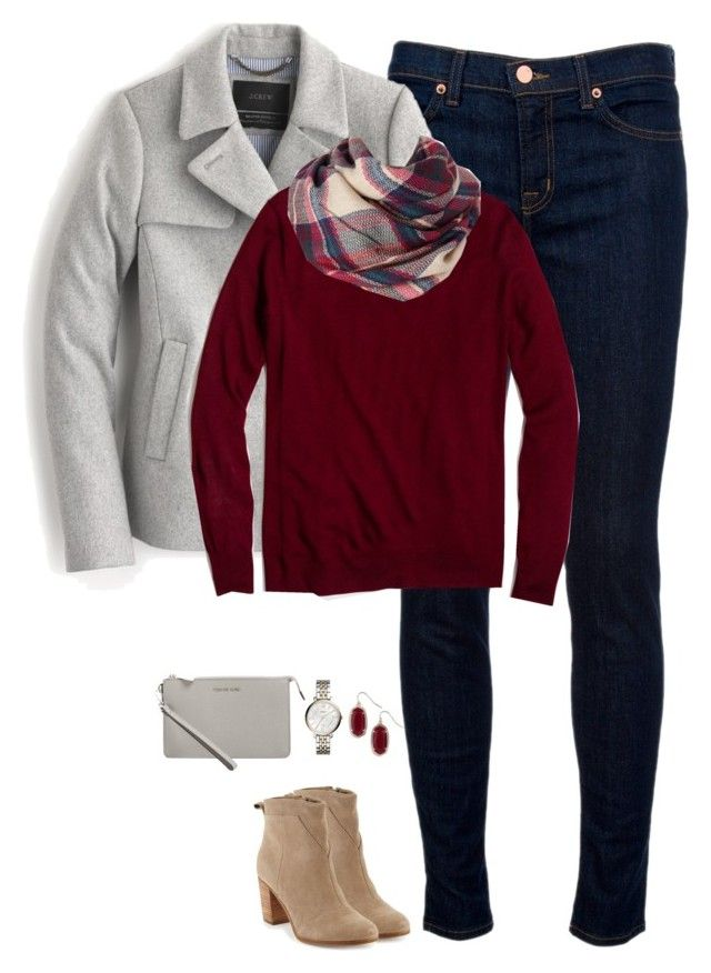 """""""Light gray & deep red"""" by steffiestaffie ❤ liked on Polyvore featuring J…"""