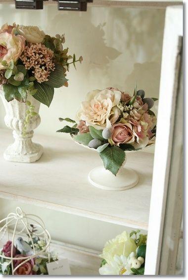 フラワーアレンジ【sn11】花器付きSurunnuage/造花アーティフィシャルフラワーアレンジメントフラワーお祝い05P02Aug14