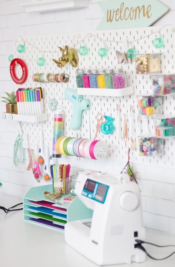 Craft and Sewing Room Makeover   – Storage & Organization