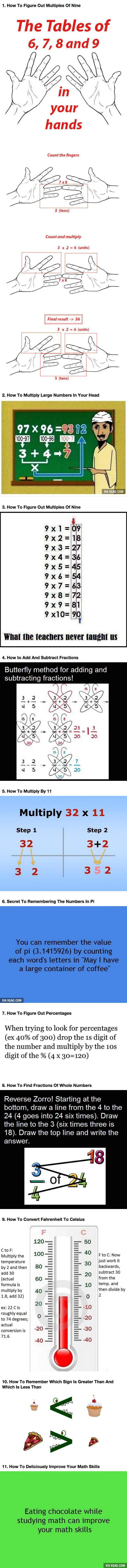 If You're Bad At Math, It's Because You Didn't Learn These 11 Simple Tricks