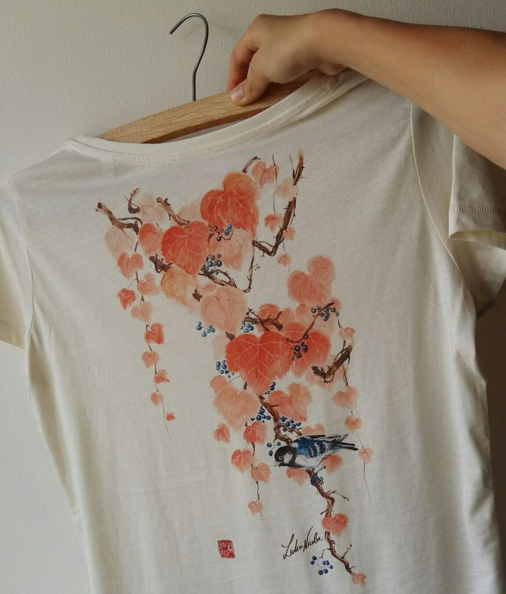 Autumn T-shirt   Wear My ArT-shirt #wearmyart #autumn #organiccotton #lidianicolae.ro