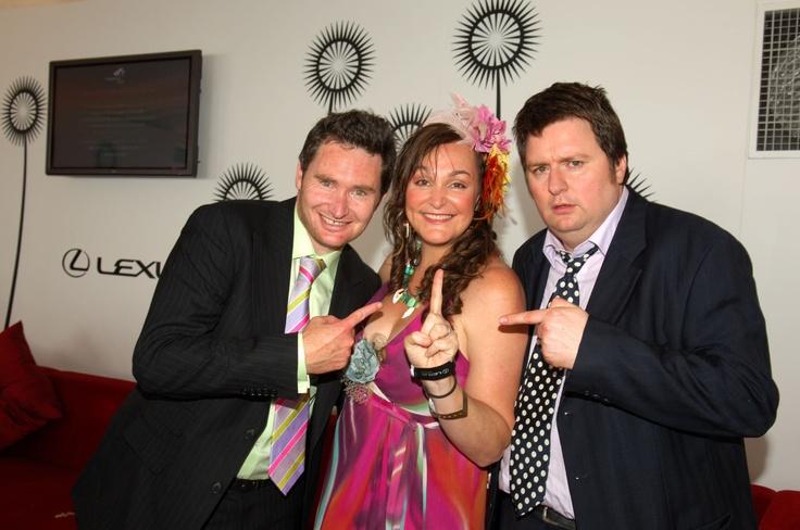 Oaks Day 2005 - Dave Hughes, Kate Langbroek & Dave O'Neil