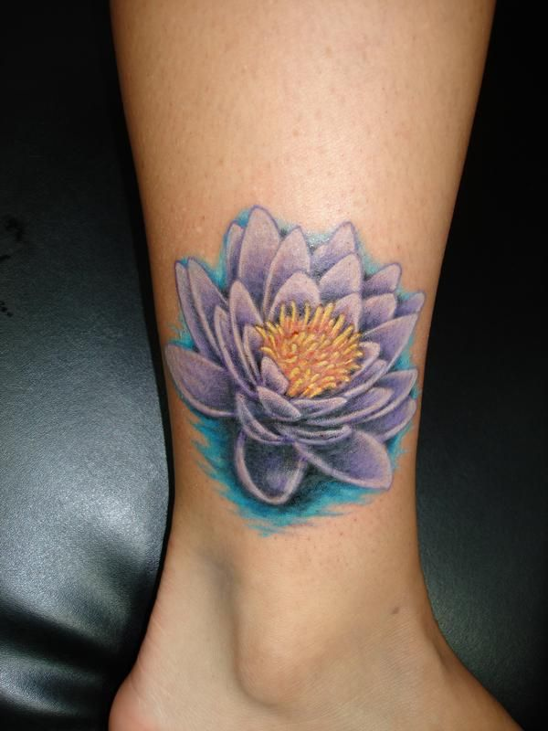 After Purple Water Lily Photos From Jake Partin Tattoos By Jake