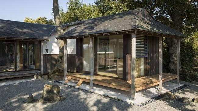 Passive house that can be heated with a tea pot