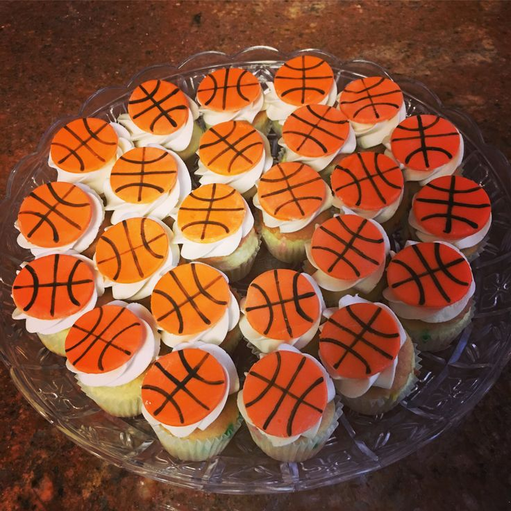 Basket ball cupcakes perfect for any occasion