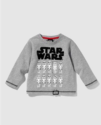 Camiseta de niño Disney en gris de Star Wars