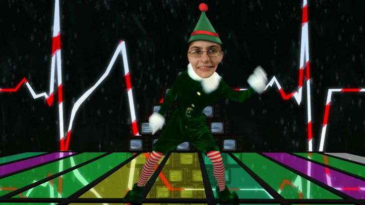 my 80s dance on the Office Max Elf Yourself app