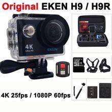 """Оригинальный EKEN H9/H9R Экшн-камера Ultra HD 4 К/25fps Wi-Fi 2.0 """"170D Водонепроницаемый подводный шлем Cam камеры Спорт Cam //Цена: $40 руб. & Бесплатная доставка //  #electronics #гаджеты"""