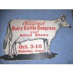 waterloo iowa cattle congress vintage images | eBay Image 1 1930 National Dairy Cattle Congress Cow Waterloo IA EX+