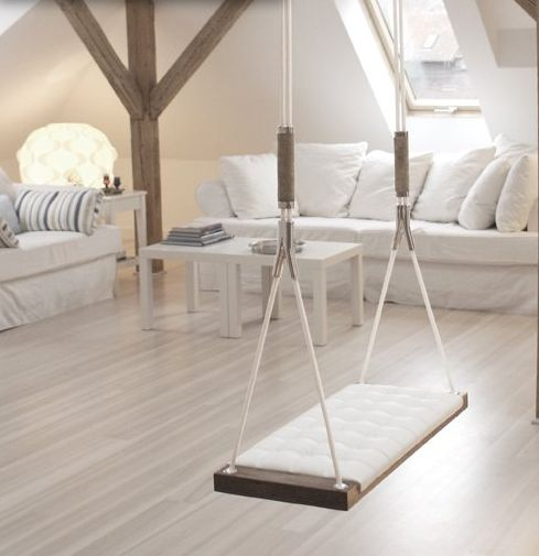 sleek swing - or beautiful hammock indoors