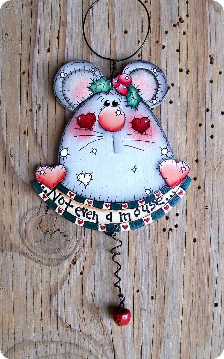 *TOLE PAINTING ~ Not Even A Mouse Ornament.