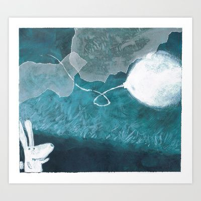moon baloon Art Print by stefania coniglio - $14.04