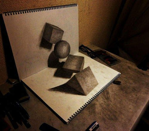 Do you know that 3D can be draw too! Here are some 3D pictures that was draw by a person not computer.