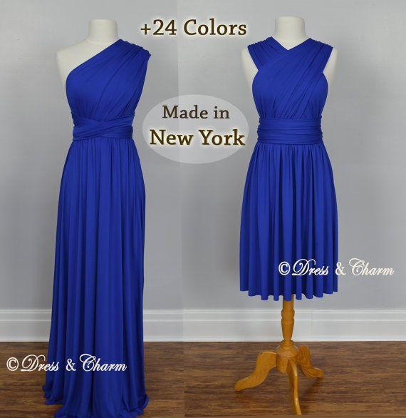 Royal Blue Bridesmaid dress infinity dress by justDressAndCharm