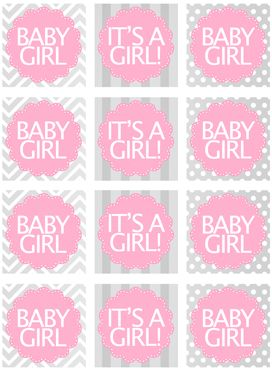 baby girl shower cupcake toppers