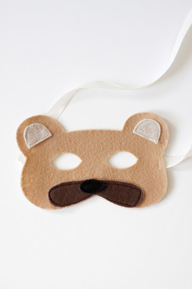 Felt mask woodland animals and masks on pinterest for Woodland animal masks template