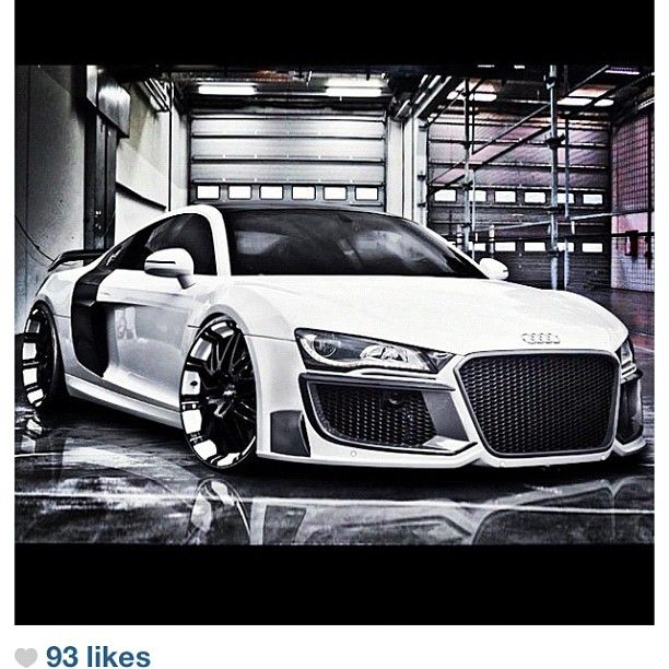 Modified Audi R8   This is the only car I would ever consider black rims..  :)