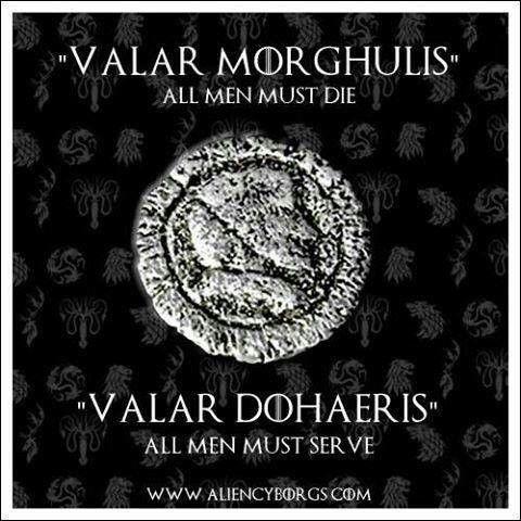 game of thrones valar morghulis o que significa