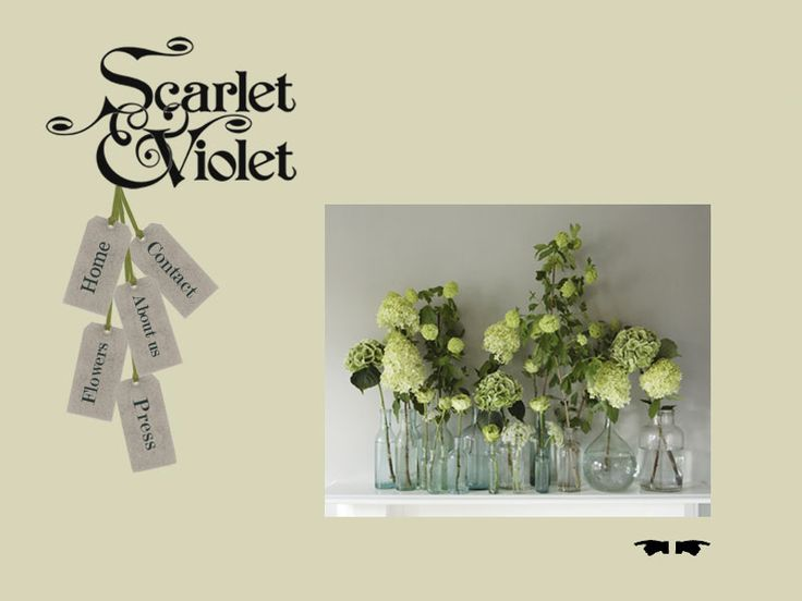 Bottles for table arrangements, white mixed flowers