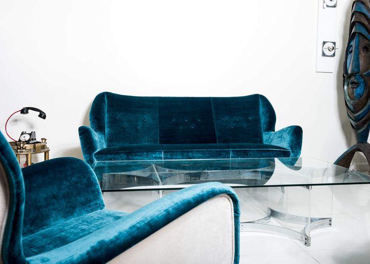 Gio Ponti blue Armchairs 1950