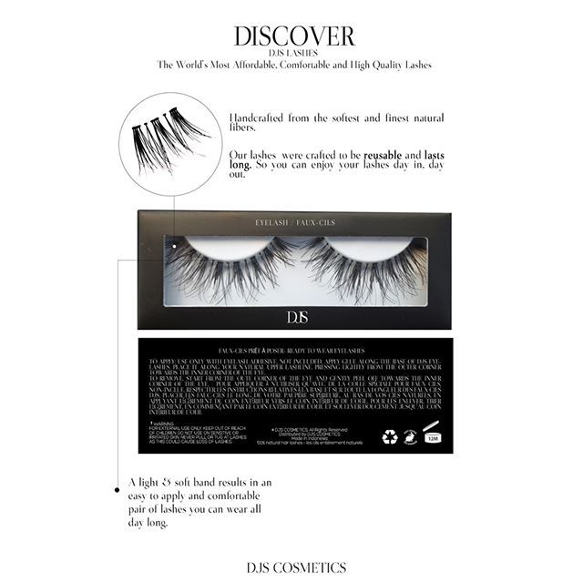 Discover DJS LASHES: The World's Most Affordable, Comfortable and High Quality Lashes.  Price: $1