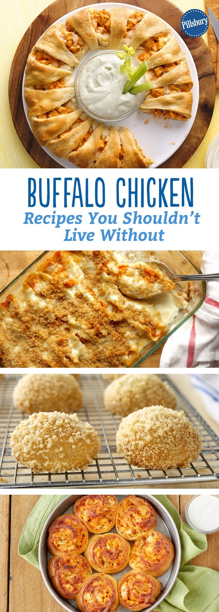 Buffalo Chicken Recipes You Shouldn't Live Without - This is way more than your standard chicken wing! We're spicing up snacks, apps and even dinner with everyone's favorite hot sauce. (Mexican Recipes Chicken)