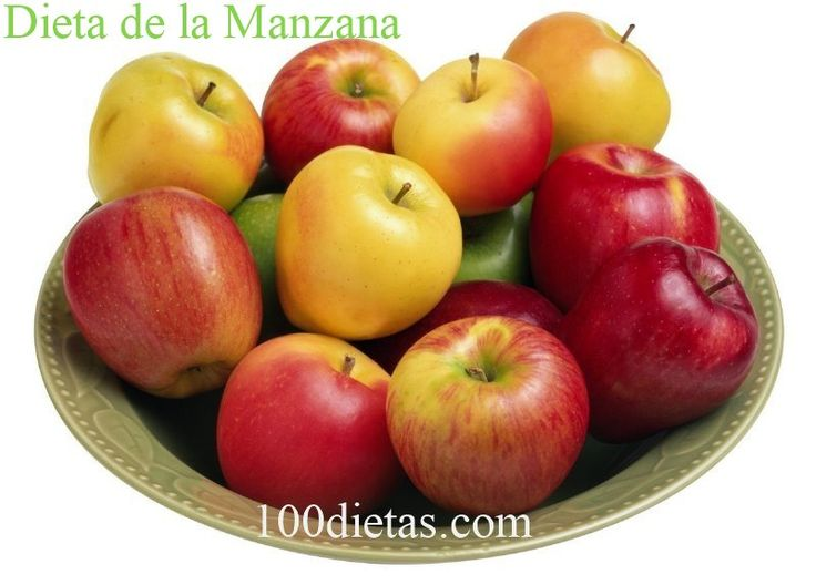 Dieta de la manzana, para perder peso rápidamente - http://100dietas.com/manzana/ La Dieta de la manzana, para perder peso rápidamente, es un plan ideal si gustas de la fruta y de los menús sencillos. Se trata de un plan que gira en torno de comer al menos una manzana antes de cada comida y la promesa es perder un kilo por día. Un plan sencillo de comidas, la Dieta de la ma...