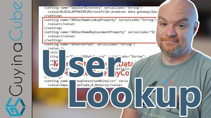 Power BI User lookup with the gateway using Active Directory #Data